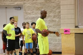 Coach Toney Going Over His Youth Basketball Training in Oakville, ON