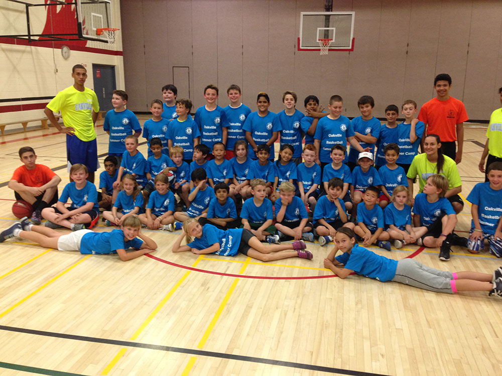 Children At Our Youth Basketball Camp in Oakville, ON